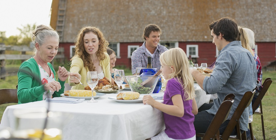 thanksgiving, together apart, eating outside, socially distanced meals